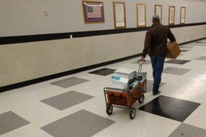 Elmore County employee carting off most of the CUP documentation. 8,000 plus pages.